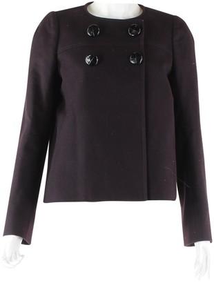 Goat Burgundy Wool Jacket for Women