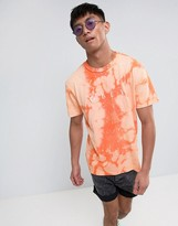 Obey Bleach T-shirt With Chest Logo In Orange