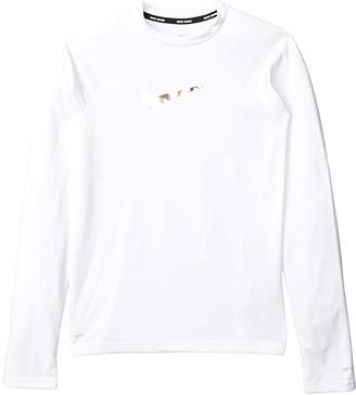 Nike Kids Swoosh Long Sleeve Hydroguard (Little Kids/Big Kids) (White) Girl's Swimwear