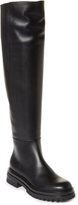 Gianvito Rossi Over the Knee Leather Boot