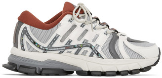 Li-Ning Grey and Burgundy Furious Rider Ace Sneakers