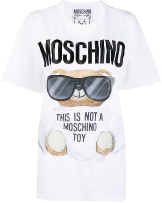 Moschino embroidered logo graphic print T-shirt