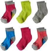 Stride Rite Toddler Girl 6-pk. Steph Crew Socks