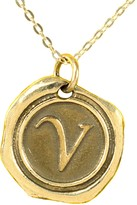 24K Gold-Plated Sterling Personalized Initial Pendant w/ Chain