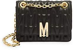 Moschino Women's Embossed Leather Shoulder Bag