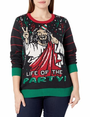 Ugly Christmas Sweater Company Women's Size Life of The Party Plus