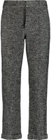 See by Chloe Houndstooth cotton and wool-blend straight-leg pants