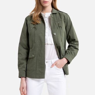 La Redoute Collections Cotton Utility Safari Jacket with Pockets