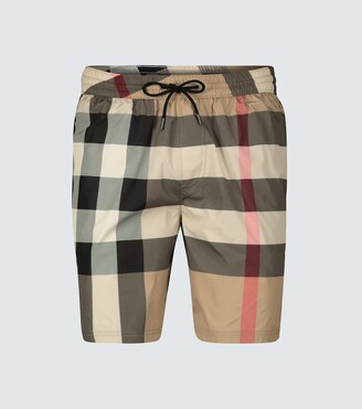 Burberry Large check-print swim shorts
