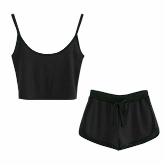 Freebily Kids Boys 2-Pieces Athletic Sportswear Basketball Suit Sleeveless Racer Back Crop Tops with Shorts Sets Activewear