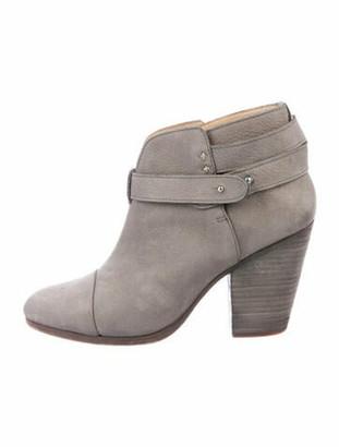 Rag & Bone Suede Leather Trim Embellishment Boots Grey