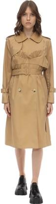 Simone Rocha Bustier Cotton Blend Twill Trench Coat