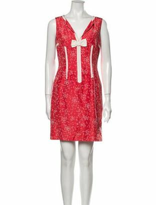 Marc Jacobs Silk Mini Dress Pink