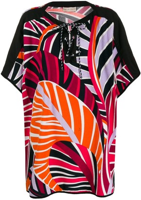 Emilio Pucci Graphic-Print Beach Cover-Up