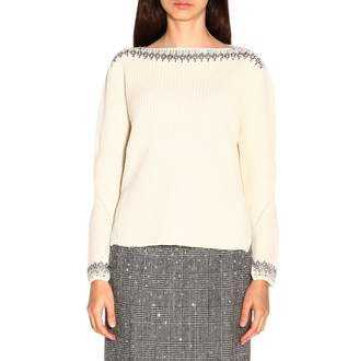 Ermanno Scervino Sweater Sweater With Long Sleeves And Bright Inserts