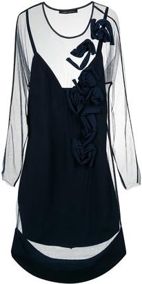 Gloria Coelho Applique Tulle Dress