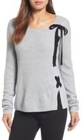 Halogen Petite Women's Side Lace Sweater