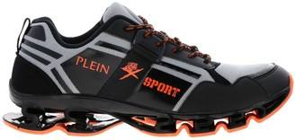 Plein Sport Sneakers Runner Cross Tiger Plein Sport Sneakers In Leather And Micro-mesh