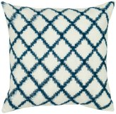 "Rizzy Home Decorative Throw Pillow, 18 x 18"", Blue"