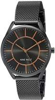 Nine West Women's NW/1923GNRT Mesh Bracelet Watch
