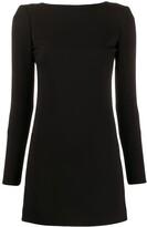 Saint Laurent long-sleeved open back dress