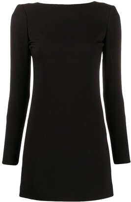Saint Laurent Long-Sleeved Open Back Dress