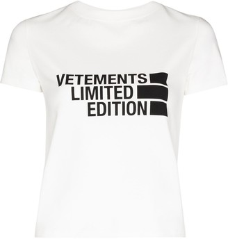 Vetements logo-print cotton T-shirt