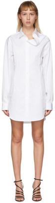 Y/Project White Asymmetric Shirt Dress