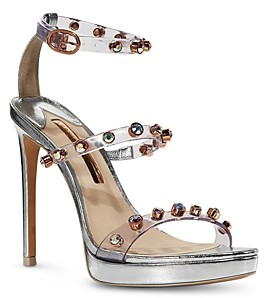 Sophia Webster Women's Rosalind Cubic Zirconia & Synthetic Pearl High Heel Platform Sandals