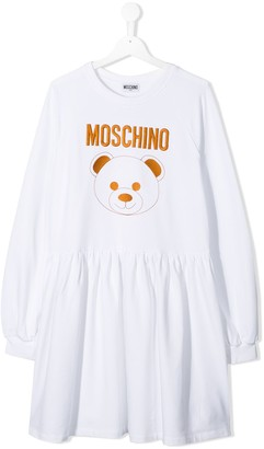 MOSCHINO BAMBINO TEEN teddy bear logo dress