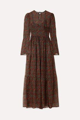 Philosophy di Lorenzo Serafini Floral-print Chiffon Maxi Dress - Black