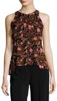 A.L.C. Women's Stuart Silk Printed Top