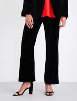 Stella McCartney Flared cropped velvet trousers