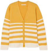 Chinti and Parker Striped Cashmere Cardigan - Yellow