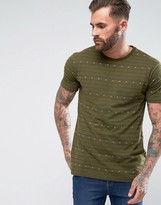 Pull&Bear T-Shirt With Arrow Stripes In Khaki