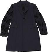 John Galliano Navy Wool Coat for Women