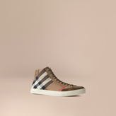 Burberry House Check High-top Trainers