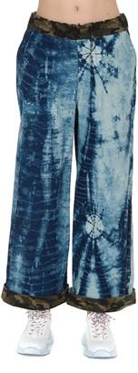 5 PROGRESS Tie Dye Effect Wide Leg Pants
