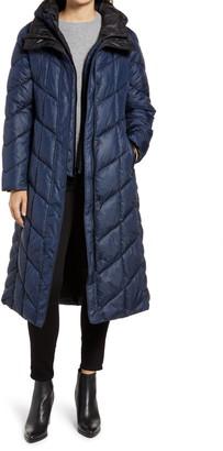 Gallery Long Hooded Puffer Coat