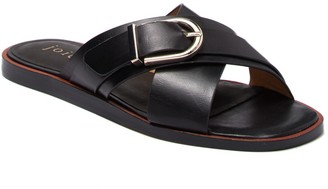 Joie Panther Crisscross Leather Slide Sandal
