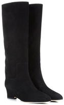 Jimmy Choo Manson 50 Suede Wedge Boots