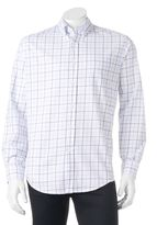 Croft & Barrow Big & Tall Classic-Fit Grid Easy-Care Button-Down Shirt