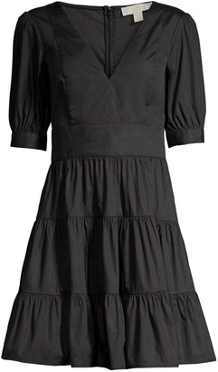 MICHAEL Michael Kors Puff-Sleeve Mini Dress