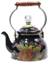 Mackenzie Childs MacKenzie-Childs - Flower Market Enamel Tea Kettle - Black - Large