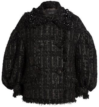 Simone Rocha Beaded Double-Breasted Tweed Jacket