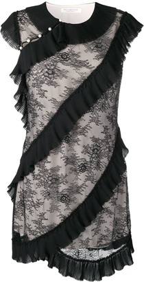 Philosophy di Lorenzo Serafini Ruffle Detail Floral Dress