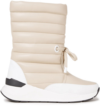 Rodebjer Dora Quilted Faux Leather Snow Boots