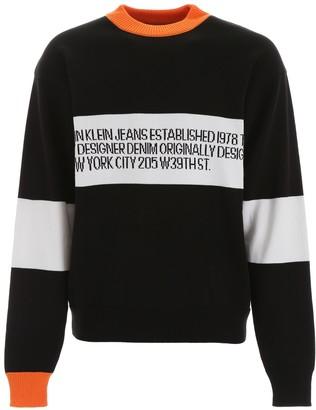 Calvin Klein Logo Intarsia Pullover