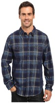 True Grit Vintage Plaid Canyon Malibu Cord Long Sleeve Two-Pocket Shirt with Stitch