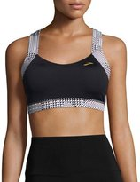 Brooks UpLift Crossback Sports Bra (C/D), Black/White
